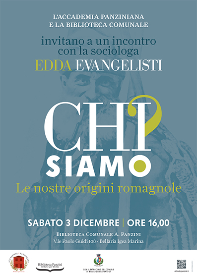 """""""Le nostre origini romagnole"""", incontro con Edda Evangelisti: 3 dicembre Biblioteca """"Panzini"""""""